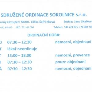 Sdružené ordinace Sokolnice, s.r.o.