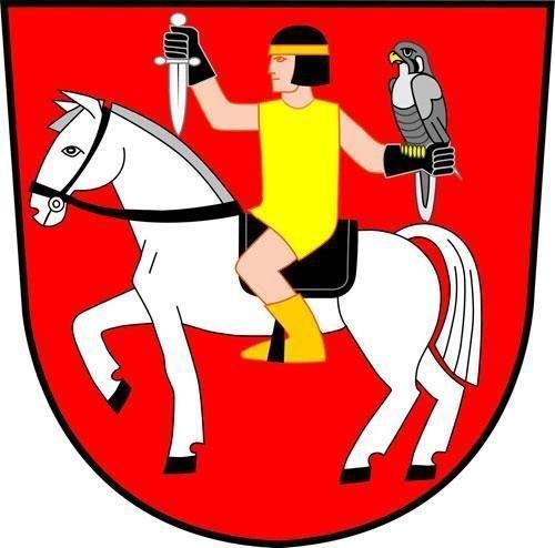 Znak obce Sokolnice.
